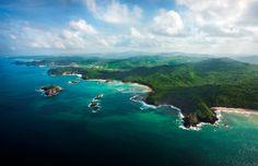 vista aérea da costa esmeralda, nicarágua