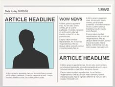 PowerPoint Templates for creating Newspaper projects. Easy to edit!