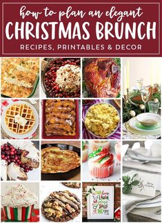 Easy Christmas Meal Plan ~ Everything You Need to Plan Your Christmas Menu! How to Make Easy Recipes, Printables, Tablescapes and More! No need lo look anywhere for Christmas Brunch Recipes! Christmas Brunch Menu, Christmas Breakfast, Christmas Entertaining, Easy Holiday Recipes, Easy Recipes, Christmas Recipes, Christmas Ideas, Christmas Foods, Elegant Christmas