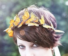 monarch butterfly crown for the flower girls