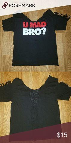 Hand shredded T-shirt Hand cut t-shirt Tops