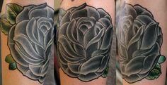 Huge black rose tattoo | cover-up