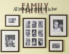 Family All Because Two People Fell In Love  Quote Vinyl Lettering Wall Saying