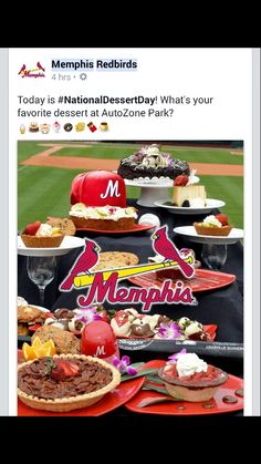 My desserts still being featured at Autozone Park.