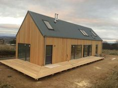 Sustainable Architecture – Page 7435835227 Modern Barn House, Barn House Plans, Timber House, Small House Plans, Shed Homes, Prefab Homes, House Cladding, Casa Patio, Casas Containers