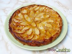 Tarta de manzana y yogur. Receta cremosa y deliciosa! Cinnamon Rolls, No Cook Meals, Apple Pie, Recipies, Food And Drink, Pudding, Nutrition, Bread, Homemade