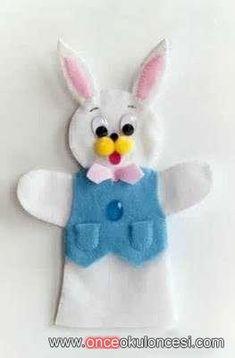 Tavşan eldiven kukla kalıplı - Önce Okul Öncesi Ekibi Forum Sitesi - Biz Bu İşi Biliyoruz