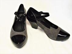 NEW Dansko Bonnie 6.5-7/37 Mary Jane Pump Gray Suede Black Patent Buckle Career #Dansko #MaryJanes #WeartoWork