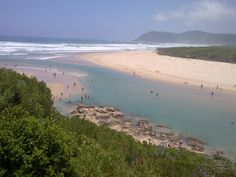 Sea water entrance in Sedgefield, Garden Route, South Africa. it is also called the Mouth.