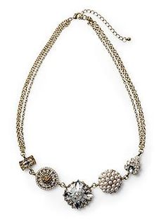 antique short necklace by tinley road, $34