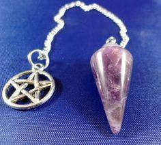 Amethyst Pendulum with Pentacle