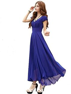 Georgette maxi dress Rs 550 COD available Two days return policy DM for ordering Free delivery pan India Royal Blue Long Dress, Royal Blue Dresses, Western Wear Dresses, Western Wear For Women, Look Fashion, Womens Fashion, India Fashion, Fashion Ideas, Ethnic Gown