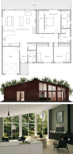 Inspiration #plan #maison ! #moderne  http://www.m-habitat.fr/plans-types-de-maisons/plans-de-maisons/le-plan-de-construction-d-une-maison-2483_A