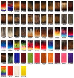 It S A Wig Hair Color Chart 1