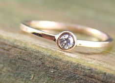 Simple and small engagement rings are the prettiest:)