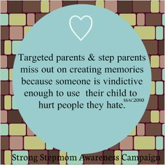 We have missed out on so much due to a very selfish and vindictive parent.  Stop Parental Alienation!