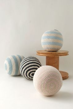Crochet Rattle Balls. Loved by #paperculture