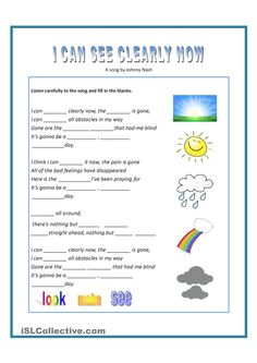 Months, seasons, weather, clothes and activities - English ESL Worksheets English Activities, Music Activities, Teaching Activities, Singing Lessons, Singing Tips, Music Lessons, English Study, English Lessons, Learn English