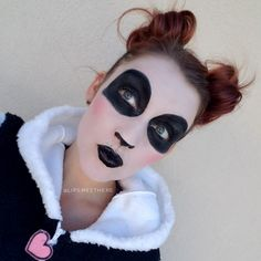 panda makeup on pinterest korean makeup products panda nail art halloween pinterest. Black Bedroom Furniture Sets. Home Design Ideas
