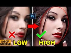 How to Depixelate images And Convert Into High Quality Photo in Photoshop CC/CS6 - YouTube