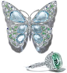 Tiffany&Co Blue Book 2015 butterfly brooch and a ring