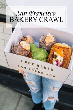 What better way to explore San Francisco by letting your sweet tooth be the guide? Explore four of the best bakeries in the city in my San Francisco bakery crawl. Here's where to go, what to order and even a video tour to help you plan your adventure. Tartine Bakery San Francisco, San Francisco Food, San Francisco Travel, Oakland San Francisco, San Francisco Vacation, Living In San Francisco, San Francisco Skyline, San Diego, Good Bakery