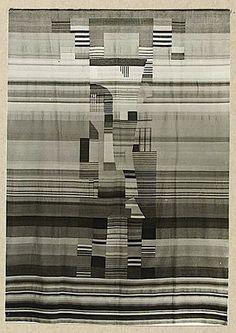 Gunta Stölzl:Photograph of Wall Hanging:Gelatin silver print:Photograph by A. & E. Frankl