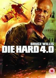 """Die Hard 4.0 (2007) directed by Len Wiseman, based on the article by John Carlin, starring Bruce Willis, Justin Long, Timothy Olyphant, Maggie Q and Mary Elizabeth Winstead. """"John McClane takes on an Internet-based terrorist organization who is systematically shutting down the United States at Christmastime."""""""