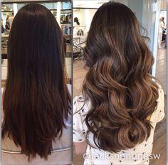 New hair brunette thin haircuts ideas Brown Hair Balayage, Hair Highlights, Bayalage, Cabelo Tiger Eye, Hombre Hair, Thin Hair Cuts, Brunette Hair, Gorgeous Hair, Dark Hair