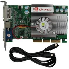 Brand in Box 256 MB NVIDIA Geforce FX5500 AGP 8x Video Graphics Card DVI/VGA/TVOUT by SIB-CORP. $25.74