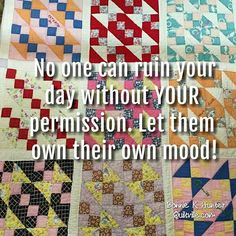 Sometimes it's hard to not take on the chaos of others. Do what you can to preserve your own peace. Protect your own happiness! Vintage quilt found in North Carolina. #quilt #quilting #patchwork #quiltville #bonniekhunter #vintagequilt #antiquequilt #deepthoughts #wisewords #wordsofwisdom #quiltvillequote #inspiration