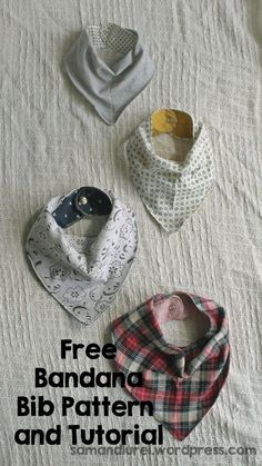 I love this bandana bib tutorial! Easy, cutiest one I've  seen plus offers a tip to add ectra snaps so its adjustable as baby grows! I totally need to make a million of these For Noah ASAP!!!