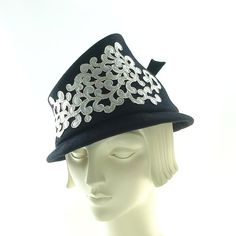 Not Quite a FEDORA Hat for Women Dark Blue by TheMillineryShop