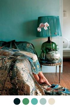 Rosamaria G Frangini | High BLUE Teal | Bedroom