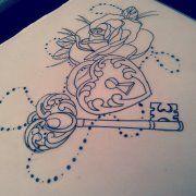 Locket Tattoos for Women | heart locket key old school by heartsandanchors on deviantART