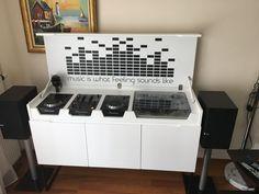 Dj controllers : Advantages of been a digital DJ controller Dj Setup, Room Setup, Dj Stand, Record Stand, Turntable Setup, Dj Dj Dj, Dj Table, Digital Dj, Music Studio Room
