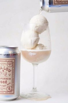 Rosé all day — for breakfast, lunch and dinner — no exceptions. It's going to be so, so hard to take a break from the pink stuff this summer after someone created Rosé ice cream. Baby Ice Cream, Rose Ice Cream, Wine Games, Ice Cream Floats, Eating Ice Cream, Popsugar Food, Summer Treats, Summer Drinks, Meals For One