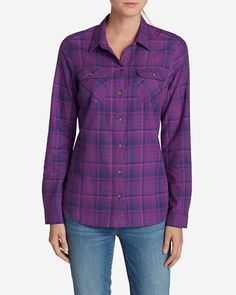 Women's Stine's Favorite Flannel Shirt - Plaid | Eddie Bauer