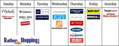 Learn the best days of the week to shop and save with coupons at popular sites like Target, Gap, Home Depot, Lands End, American Eagle and many more.