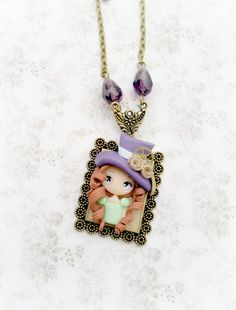 steampunk dolly  necklace