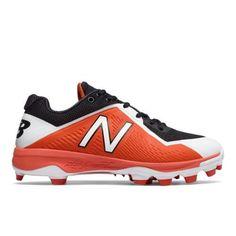TPU 4040v4 Men's Baseball Shoes - Black/Orange (PL4040B4)