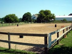Outdoor riding arena fencing idea
