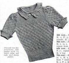 Vintage Crochet Patterns, Vintage Knitting, Knitting Patterns, Vintage Dresses, Vintage Outfits, Vintage Fashion, Knitting Stitches, Baby Knitting, Crochet Clothes