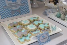 "Photo 1 of 15: Chevron and Blue Elephant / Baptism ""Hudson's Chevron and Blue Elephant Christening"" 