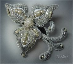 Embroidery (beads, goldwork techniques) by Elena Emelina, Russia