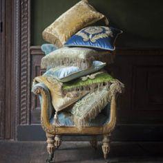 Beaumont & Fletcher pillows. #interiordesign