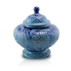Floral Filigree Ceramic Cremation Urn | OneWorld Memorials