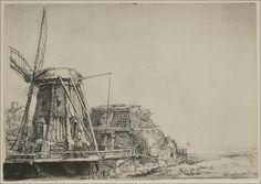 Rembrandt van Rijn -- Rembrandt's Mill 1641 144 x 207 mm.