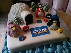Club Penguin Cake made by @ChrisTeaAndCakes baking