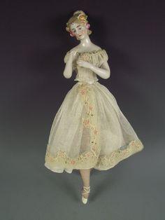 Goebel half doll Fanny Elssler ballerina.